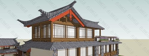 中式民宿设计效果图图片8
