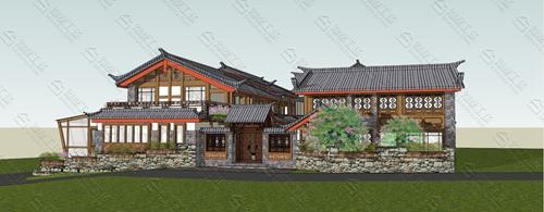 中式民宿设计效果图图片1