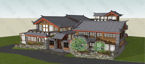 中式民宿设计效果图图片16