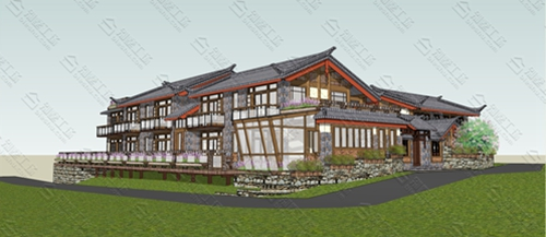 中式民宿设计效果图图片15