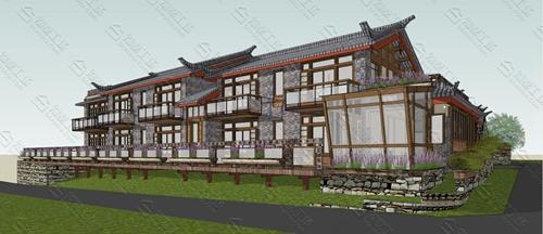 中式民宿设计效果图图片7