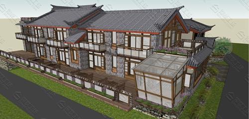 中式民宿设计效果图图片11