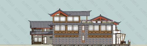中式民宿设计效果图图片13