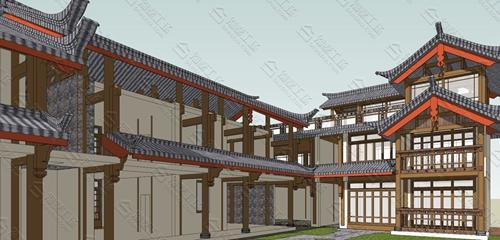 中式民宿设计效果图图片3