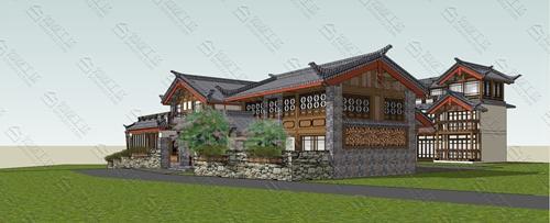 中式民宿设计效果图图片5