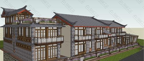 中式民宿设计效果图图片9