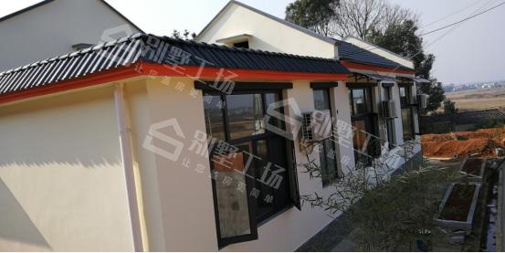 七字形一层房屋设计图侧面