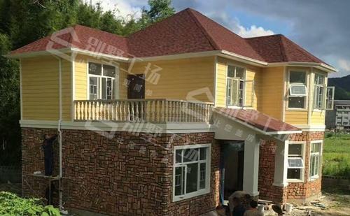 轻钢别墅真实图片