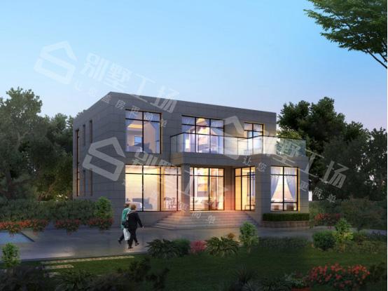 两层现代平顶带阳台