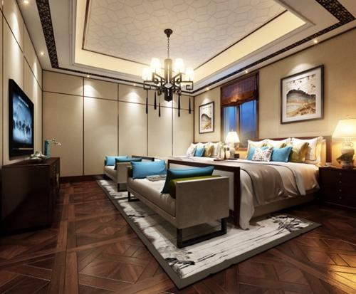 2019现代中式风格室内装修图片参考