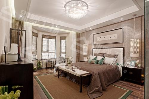 现代中式别墅卧室装修展示图
