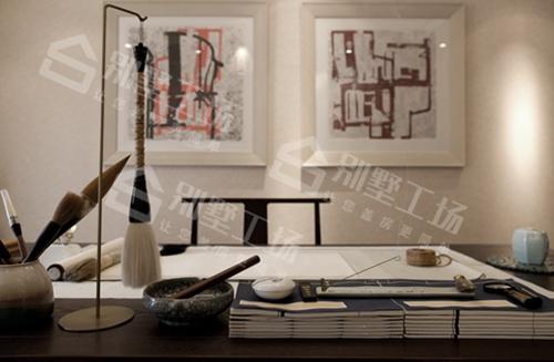 新中式装修别墅书房图片展示