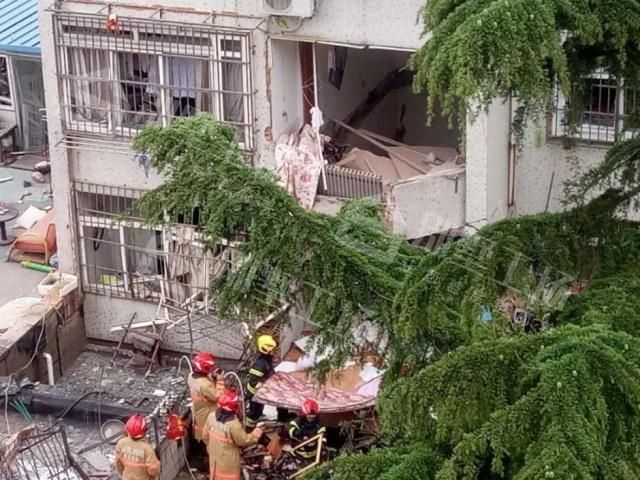 山东青岛居民楼爆炸