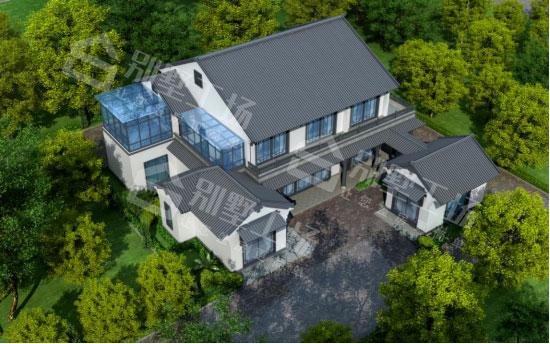 两层住宅鸟瞰图