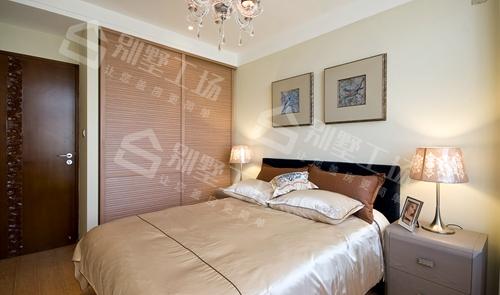 现代中式别墅客卧房间展示图