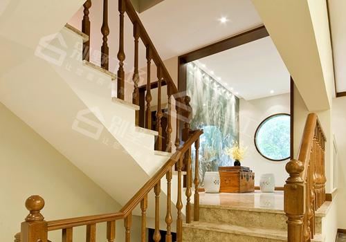 农村小楼楼梯间展示图,超漂亮