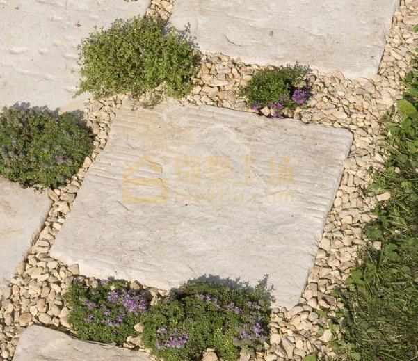 屋顶花园铺石子4