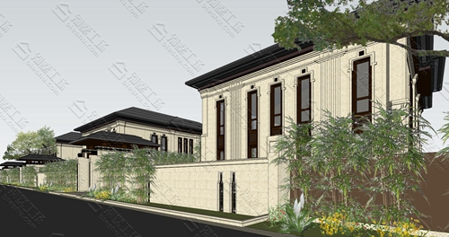 大气的中式风格农村自建三层别墅欣赏