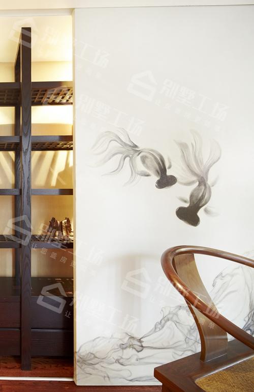 客厅一角中式风格真实图片