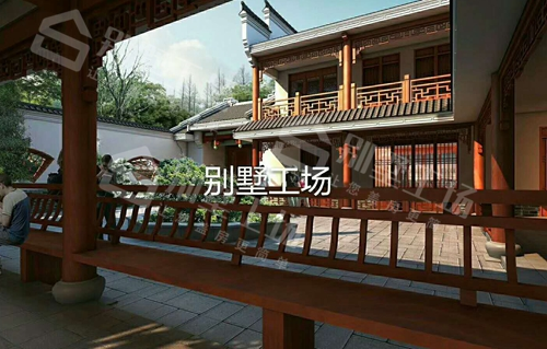 两层小别墅的庭院风光展示图