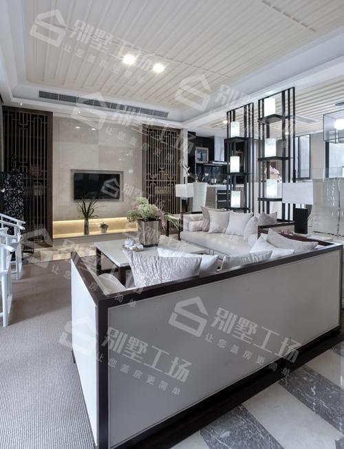 两层新中式小别墅客厅装修图二