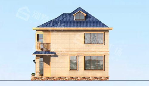 农村小宅基地能建的漂亮别墅图片欣赏