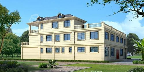 三层占地400平轻钢别墅每平米价格多少图片
