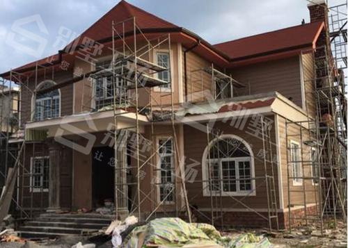 轻钢别墅施工过程图片