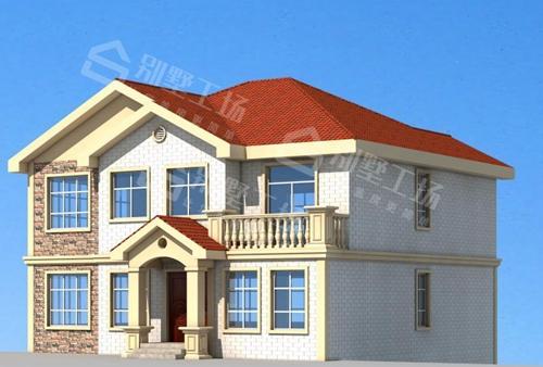两层轻钢别墅效果图