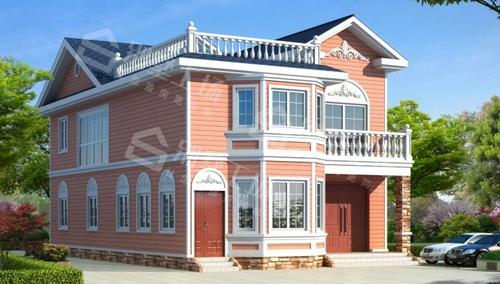 轻钢别墅二层效果图