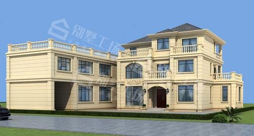 轻钢别墅三层组装后效果图