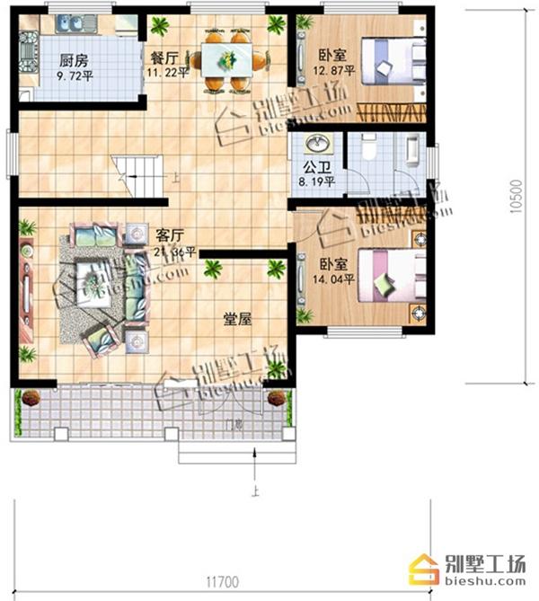 乡下建房一层户型图最小面积