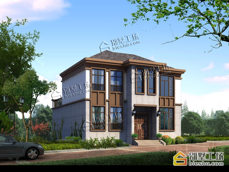 新农村二层新中式小户型洋房