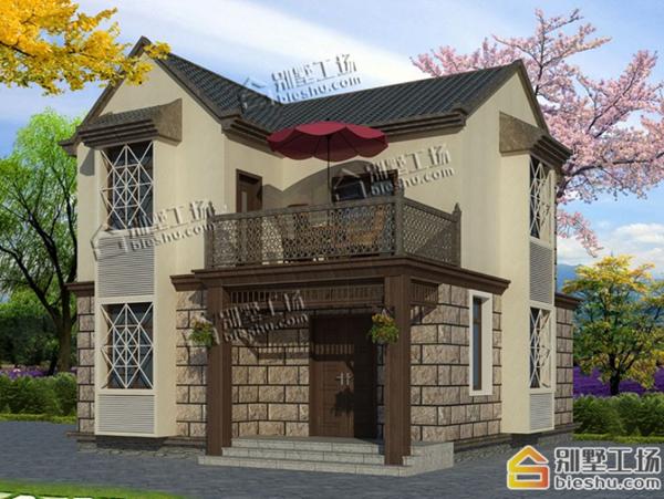 8米x10米的小宅基地二层别墅