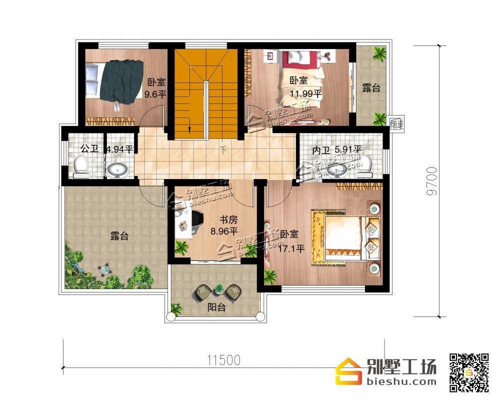 欧式经典二层自建别墅-二层