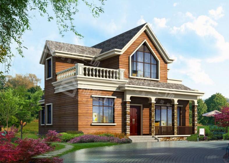 美式楼阁式二层小户型别墅