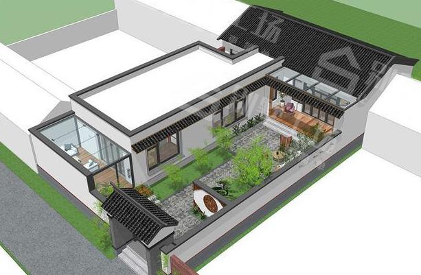 新中式农村别墅设计效果图