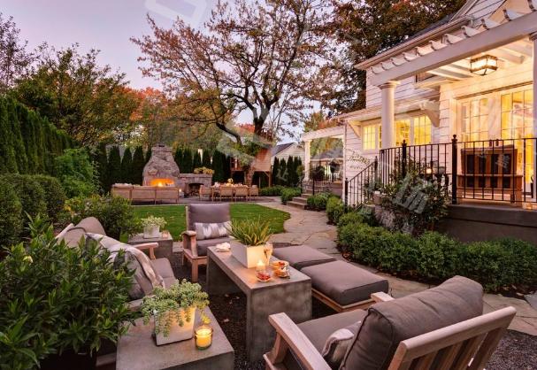别墅庭院景观设计木材