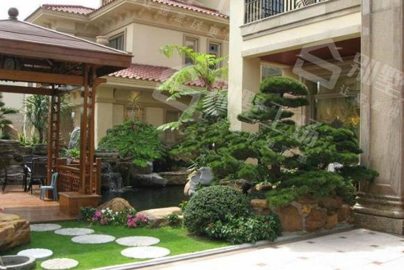 别墅庭院景观设计1