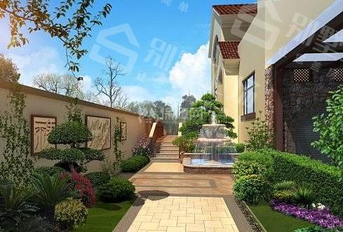 别墅庭院景观设计大小