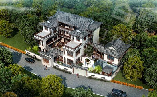 新中式400平别墅定制设计效果图