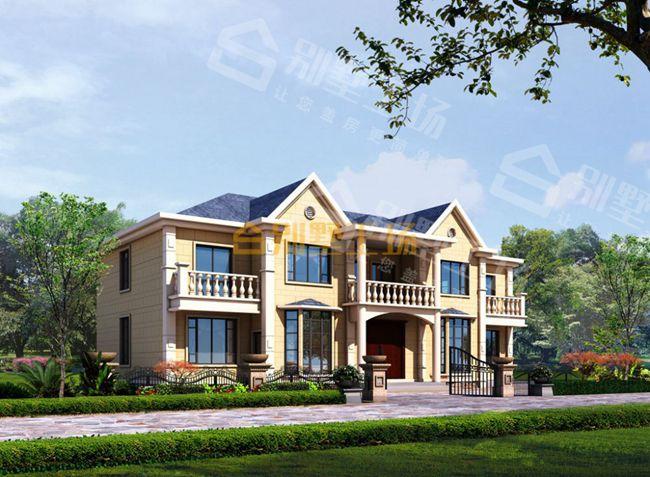 简欧风格的共堂屋及楼梯的二层双拼别墅